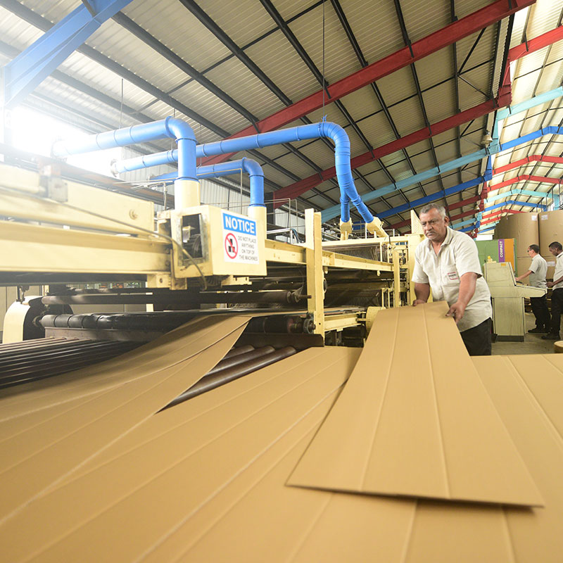 Creasing machine at Dakri Cartons
