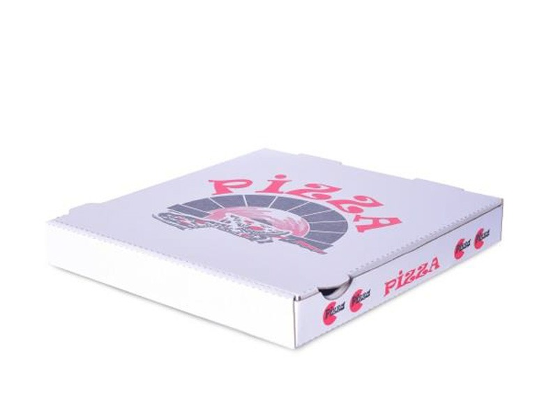 Pizza box with print example