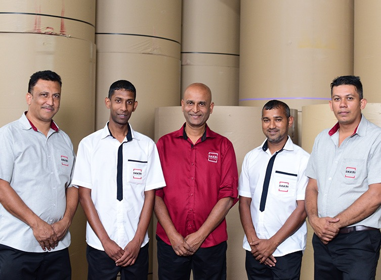 Dakri Cartons' service team supervisors