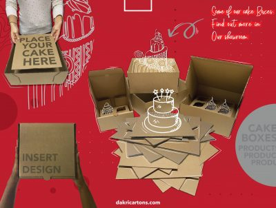 Food packaging - cakes boxes - Dakri Cartons